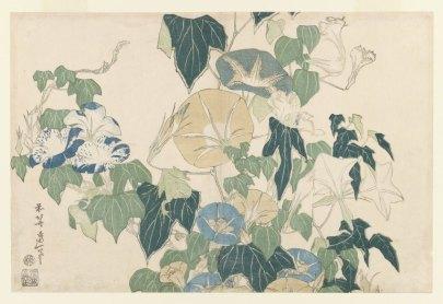 katsushika_hokusai_morning_glories
