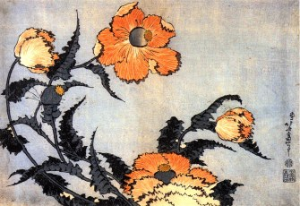 katsushika_hokusai_poppies