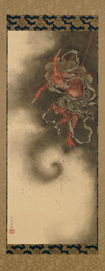katsushika_hokusai_thunder_god