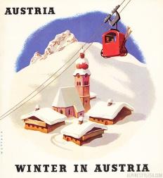 vintage_austria_ski_gondola_poster