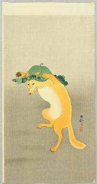 ohara_koson_dancing_fox