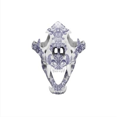 magnus_gjoen_delft_tiger_skull
