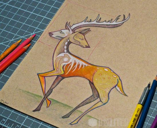 issac_hastings_deer_sketch